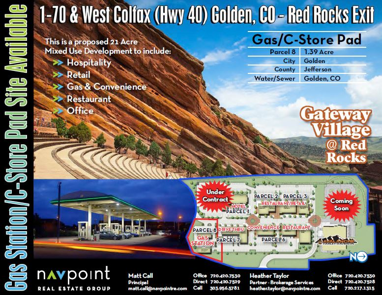 NavPoint Real Estate Group Closes Gas Station Land in Golden, CO